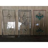Buy cheap Single decorative leaded glass for cabinet door with electroplating technology from wholesalers