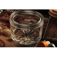 Quality PersonalisedEmpty Clear Glass Candle Jars With Lids , ASTM Test for sale