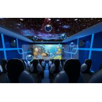 Quality Entertainment 5d Mobile Cinema Motion Chairs With Snow , Bubble , Lightning Machine for sale