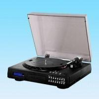 Quality Cassette Moving Magnetic Turntable Player with USB to PC Recording and CD Recorder for sale
