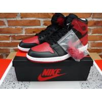 Quality tradingspring.cn Authentic Air Jordan 1 retro black and red for sale