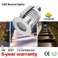 Quality Mini Led Deck Lights DC12V Low Voltage Outdoor Lighting  IP67 Recessed spotlights Led Buried light Exterior Lighting for sale