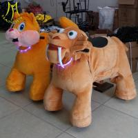Quality Hansel indoor playgroound for sale plush drive on animals unicorn electric scooter with battery for sale