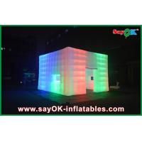 Quality 210D Nylon Cloth Giant Rainbow Led Inflatable Tent With Window / Door for sale