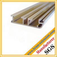 Quality window door frame profiles brass channel extrusions sections for sale