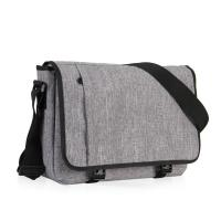 Quality 15 Inch Laptop Messenger Bag Grey Color , Outdoor Messenger Bags For College Students for sale