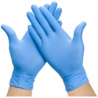 Quality Examination Disposable Medical Gloves , Nitrile Disposable Gloves For Hospital for sale