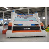 Buy Ambulance Games Kids Inflatable Bounce House 0.55mm Pvc Tarpaulin 6 X 4m For Amusement Park at wholesale prices