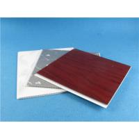 Quality White Red Silver Marble Color UPVC Wall Panels , decorative wall cladding sheets for sale