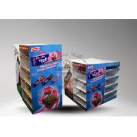 Quality Customized printed cardboard pallet display with two sides showing for cookies for sale