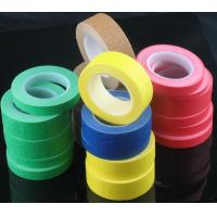 Yellow Crepe Paper Automotive Masking Tape , Different Types Of Masking Tape for sale