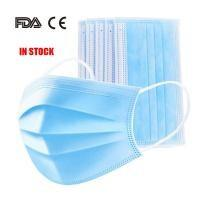 Buy cheap Latex Free 3 Ply Disposable Face Mask , Non Woven Fabric Mask CE FDA Certificate from wholesalers
