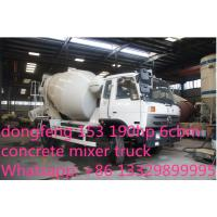 Quality dongfeng 153 190hp 6cbm 4*2 small concrete mixer truck for sale for sale