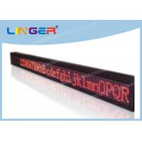 Quality Super Brightness LED Scrolling Message Sign Easy Maintenance 17222dots/Sqm for sale