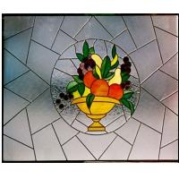 Quality stained Window Glass/decorative glass panel windows for sale