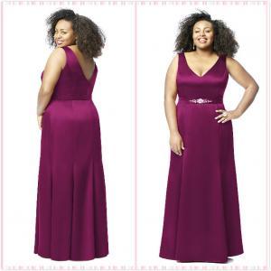 Quality Straps Aline Plus size Chiffon Bridesmaid dress#8136-MERL for sale