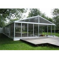 Quality Aluminum Frame Clear Span Tents Transparent Wedding Tent With Glass Sidewalls for sale