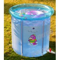 China Blue Inflatable Swimming Pools For Kids ,Small Spring Baby Pool on sale
