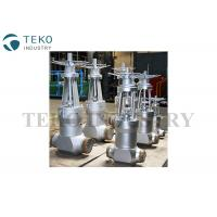 China Fully Open / Close High Temperature Gate Valves With Flange End Butt Weld End on sale