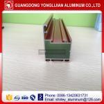 Quality Wood grain color extrusion aluminum profile manufacturer/company for sale