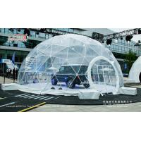 Transparent PVC Cover Geodesic Dome Tents For Wedding / Party 100 - 10000 People for sale
