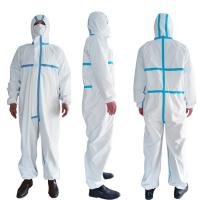 Quality PPE Disposable Protective Suit , Chemical Protective Coveralls Clinical Mutiple Sizes for sale