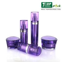UV Coated Acrylic Lotion Dispenser Bottles Prism Shape Customized Logo Printing