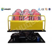 Quality 6 Seats Yellow 6-DOF Hydraulic Platform Type 7D Cinema System All the equipment for sale