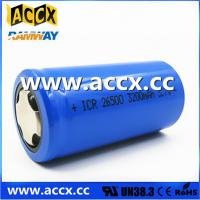 Quality rechargeable battery ICR26500 3.7V 3200mAh for sale