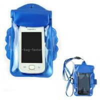 Dual-purpose Promotional Waterproof Phone Pouch Plastic Water-Resistant Phone Pouch with Armband and Landyard