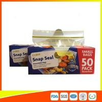 Quality Small Transparent Zip Up Reusable Snack And Sandwich Bags 15 * 9cm for sale