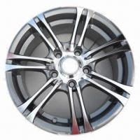 Quality Car Alloy Wheel Rim of Aftermarket, with Gun Metal Full Polish, Measuring 14x6/15x6 Inches for sale