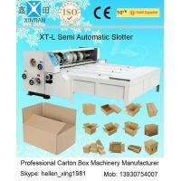 Buy cheap 3KW 2200mm Semi Automatic Machines Slotting Machinery with Chain Feeder from wholesalers