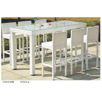 Quality 2014 fashion white rattian bar table and bar chair set for sale