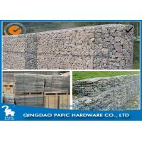 Buy Galvanized / PVC Coated Steel Gabion Baskets / Wire Gabion Mesh Container at wholesale prices
