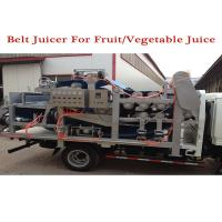 Quality automatic stainless steel fruit conveyor double belt press machine for apple juice for sale