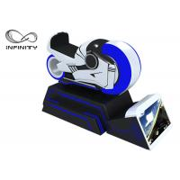 Quality Blue And White Color 9D VR Simulator One Year Warranty / VR Racing Motorcycle for sale
