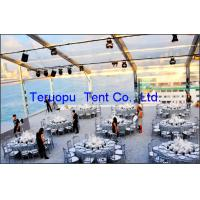 Banquet marquee tent 15X40m with transparent roof cover, transparent tent for wedding event for sale