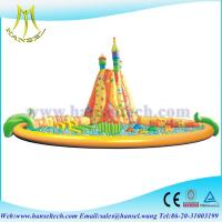 Quality Hansel Inflatable Water Trampoline With Small Slides For Family Swimming Pool Water Park for sale