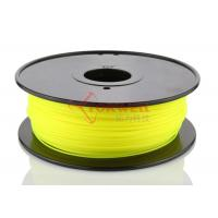 Buy Yellow 3D Printer Materials High Strength , 1.75mm PLA Filament at wholesale prices