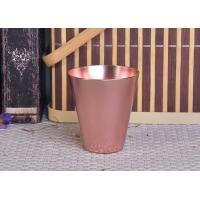 Quality 95ml Rose Gold Taper Cone Shaped Aluminium Candle Vessel Metal Jars For Candle Making for sale