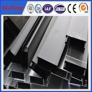 Quality OEM aluminum tube extrusion profiles, anodized bronze(black) aluminium profiles for sale