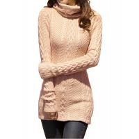Quality Slim Fit Turtleneck Fashion Pullover Sweaters Cable Knit Jumper Womens for sale