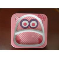 Buy cheap Cute Square Melamine Plates Custom Cartoon Printing With Rice Husk Natural Fiber Material from wholesalers