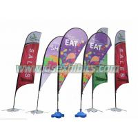 China teardrop flying banner on sale