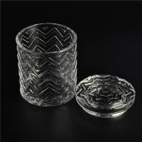 Quality Clear home decoration extra large glass candle holders with glass lid for sale