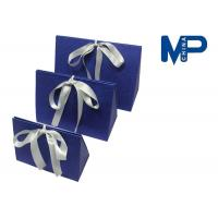 Quality Personalized paperboard gift wrapping boxes decorated Ribbon and Knob for sale