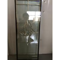 """Quality golden brass caming decoarative glass panel 1""""thickness of high quality for sale"""