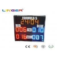 Quality Yellow Red Blue Colors Led Electronic Scoreboard Outdoor For Paintball Sports for sale