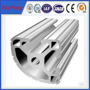 Quality 6000 electrophoresis white aluminium profile factory, v slot aluminum extrusion profiles for sale